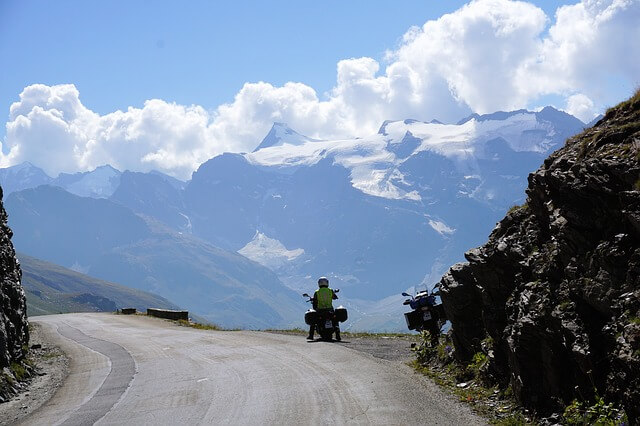 Mit dem Motorrad durch die Alpen